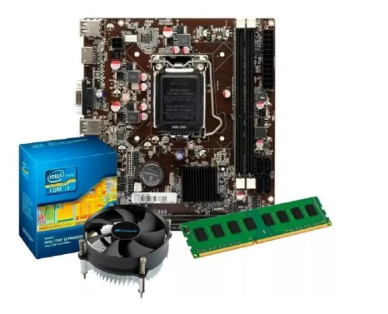 Kit Intel Processador Core I5 650 3,2 GHZ + Placa H55 1156 + 4 GB DDR3 + Cpu Cooler