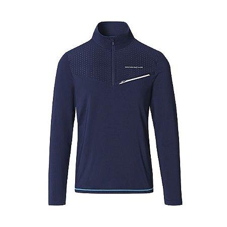 Camisa esporte de manga comprida masculina, coleção esportiva