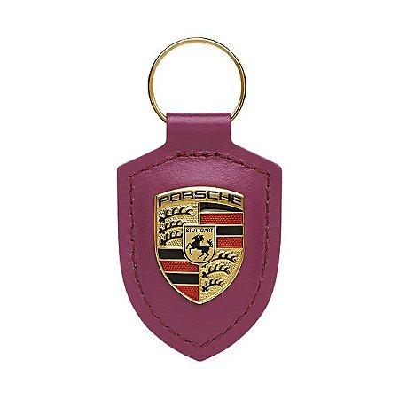 Chaveiro Couro Porsche (Pink)