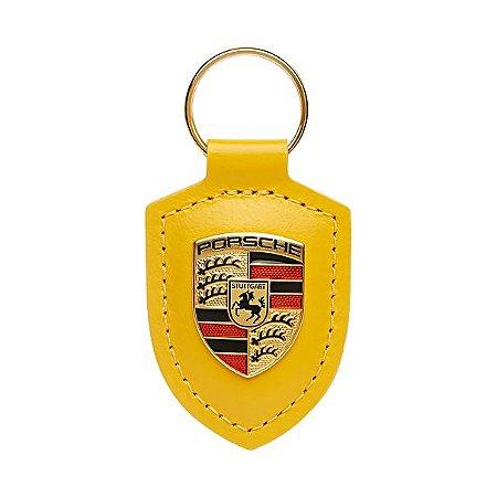 Chaveiro de Couro Porsche  ( Yellow Speed)