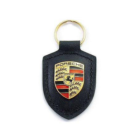 Chaveiro de Couro Porsche  ( Preto )