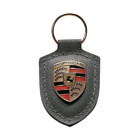 Chaveiro Couro Porsche ( Cinza)