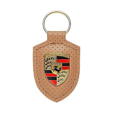 Chaveiro de couro Emblema  Porsche, coleção Heritage