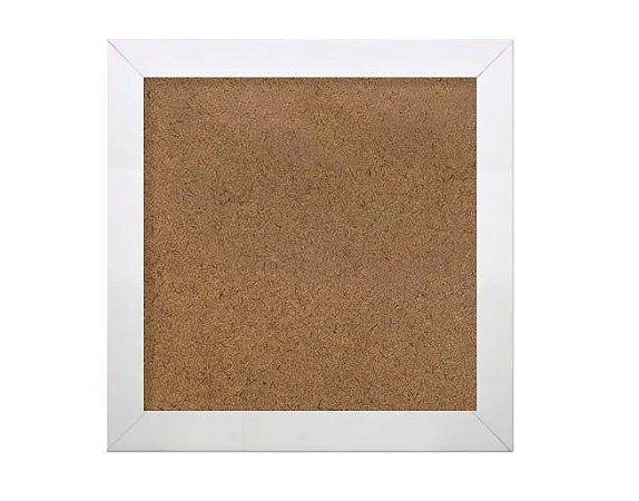 Moldura branca com vidro para tirinhas tamanho 18x18 cm