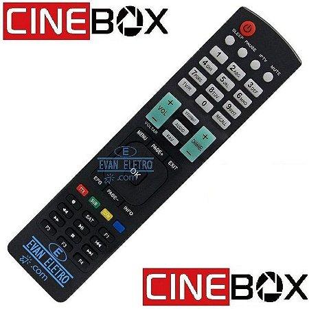 Controle remoto para receptor Cinebox LE-7059 / SKY-7059 / CRS-7059