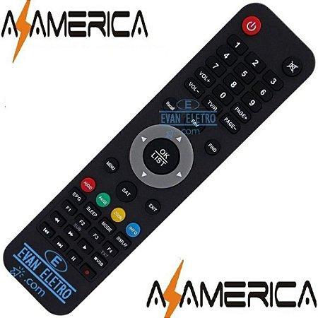 Controle remoto para receptor Azamerica SKY-7476 / LE-7476 / FGB-7476