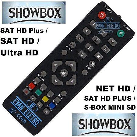 Controle remoto para receptor Showbox SKY-7083 / LE-7083