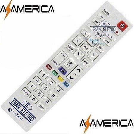 Controle remoto para receptor Azamerica SKY-7081/ LE-7081 / FBG-7081