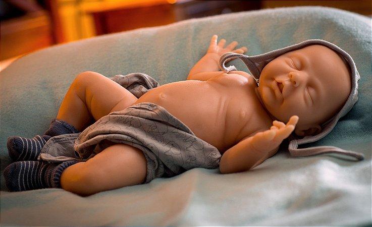 Bebê Reborn de Silicone Sólido Calimero