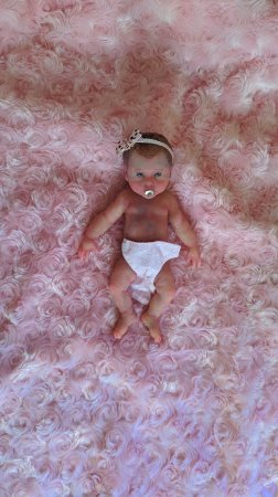 Mini Bebê Reborn Silicone Sólido Completo *Dulce* NOVA VERSÃO