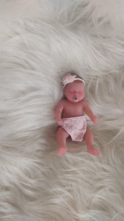 Mini Bebê Reborn Silicone Sólido Completo *Nina*