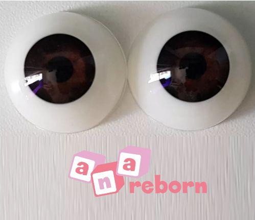 Olhos Castanho Escuro 08 MM *importado* Wd10