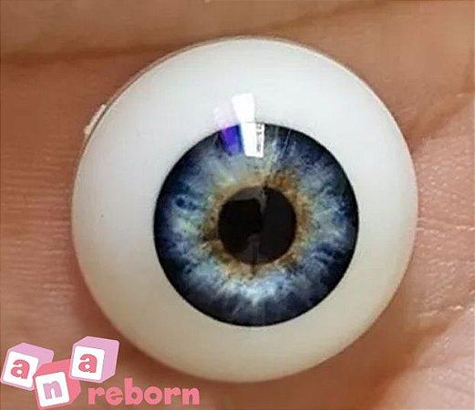 Olhos Azul Claro Reborn 28 MM *importado* sd01
