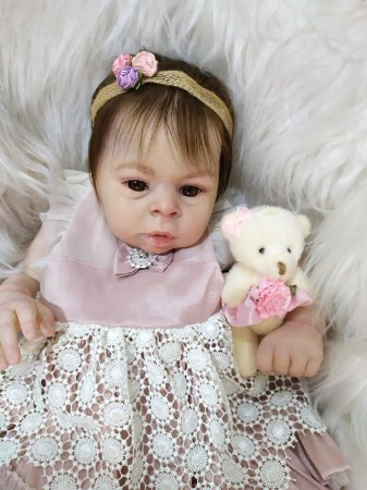 Bebê Reborn em Vinil  *Lisbela* A PRONTA ENTREGA