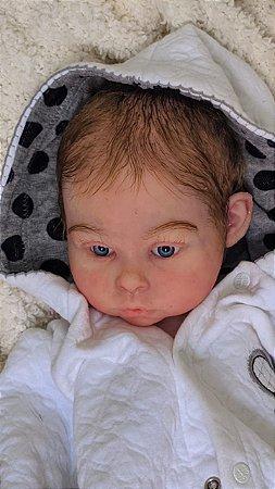 Bebê Reborn de Silicone Sólido JÚ