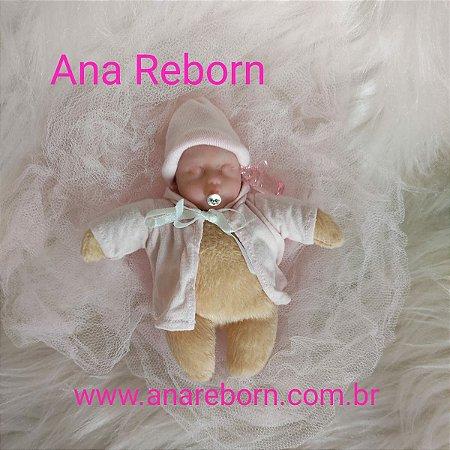 Mini Bebê Reborn Silicone *Aninha*
