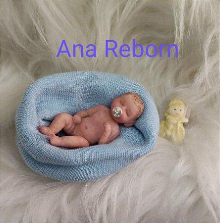 Mini Bebê Reborn Silicone Sólido Completo *Raphinha* LIMITADO