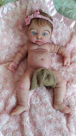 Bebê Reborn de Silicone Sólido Cristal -NOVA VERSÃO