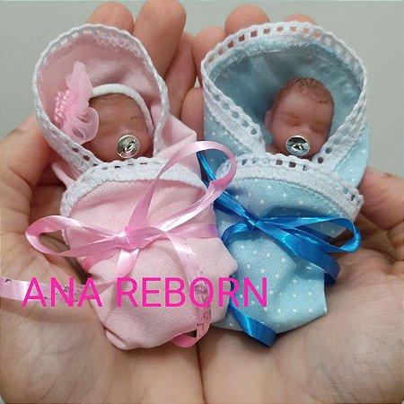 Gêmeos: Mini Bebê Reborn Silicone Sólido Completo *Raphinha e Clarinha*
