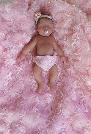 Mini Bebê Reborn Silicone Sólido Completo *Zara*