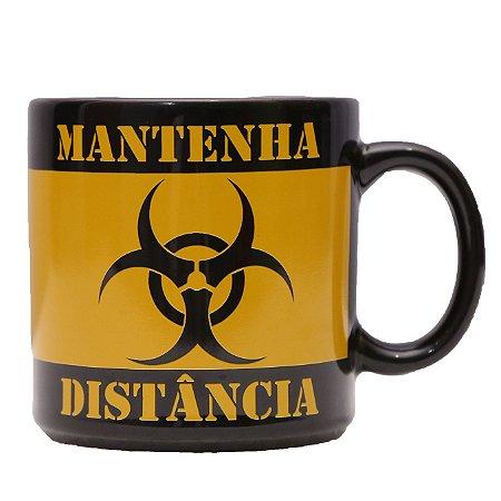 CANECA EM PORCELANA MANTENHA DISTÂNCIA - 360 ml