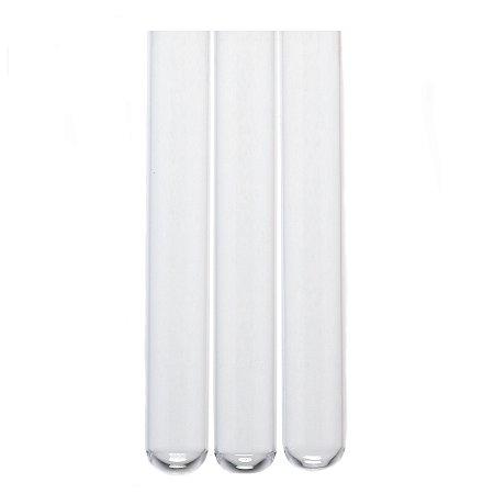 KIT COM 5 TUBOS DE ENSAIO DE VIDRO - 5 ml