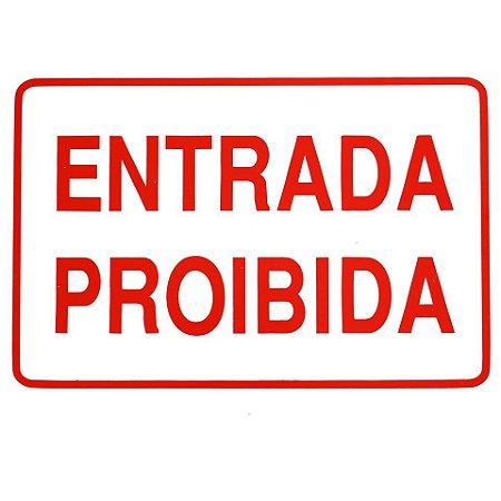"""PLACA """"ENTRADA PROIBIDA"""""""