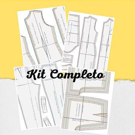 004 Kit completo de bases para modelagem ( TECIDO PLANO)