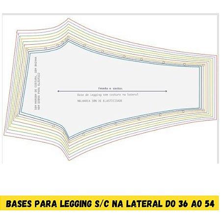 kit Bases (MALHARIA)para legging sem costura na lateral do 36 ao 54