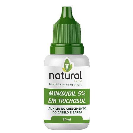 Minoxidil 5% em Trichosol 60ML - Loção para Cabelo e Barba