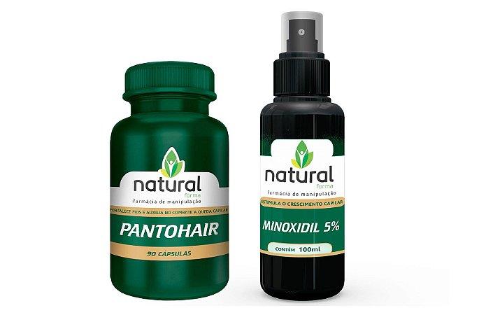 Kit Crescimento Capilar- Pantohair + Minoxidil