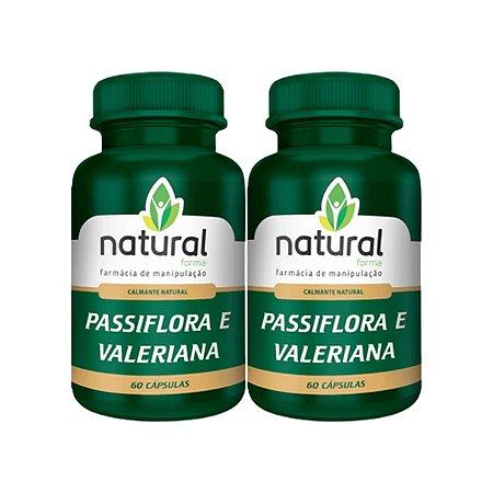 (Calmante Natural) Passiflora + Valeriana 60 Cápsulas (2 UNIDADES)