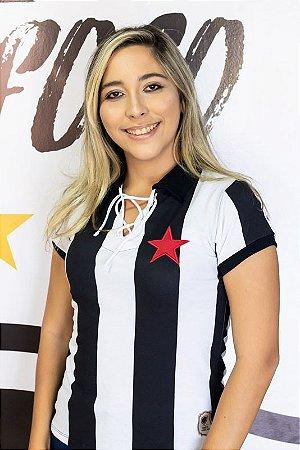 Camisa Retrô Listrada Belo1931 Botafogo-PB Feminina