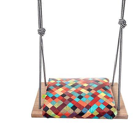 Balanço Infantil 3+ Assento Acolchoado Acquablock Coiseteria - Coloridex