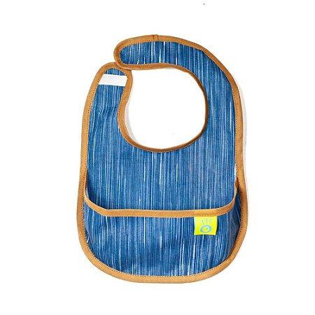 Babador Infantil BLW em Tecido Acquablok Coiseteria Blue Jeans