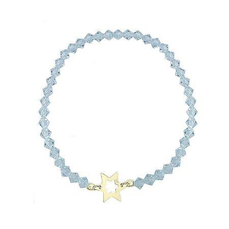 Pulseira Cristal azul & Estrela
