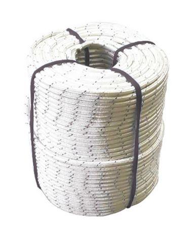 Corda Trançada Semi-Estática K2 11,5 MM Certificada Branca Rolo Com 200 Metros