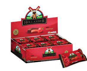 Choco Truf. Hollander Morango Florestal 18x25g - Display