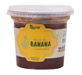 Doce Cremoso Masotti de Banana 400g - UN