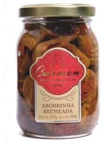 Abobrinha Recheada com Tomate Seco 230g - Doces Carmen - UN