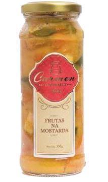 Frutas na Mostarda 330g - Doces Carmen