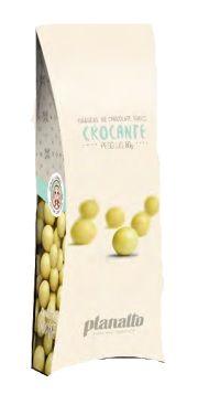 Dragea Chocolate Branco Crocante Planalto 80G