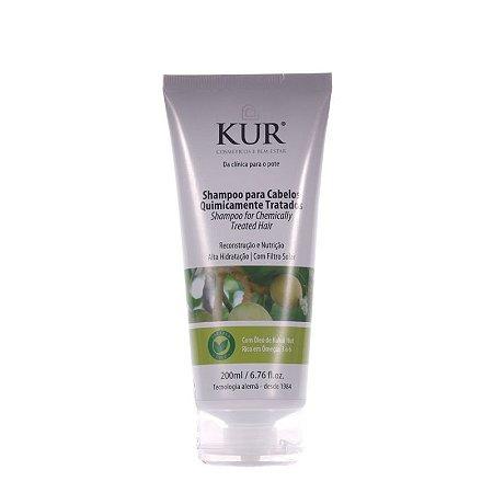 Shampoo Para Cabelos Quimicamente Tratados -200ml - Kur