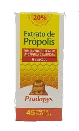 Extrato de Própolis Marrom Suplemento Prodapys - 45 Capsulas