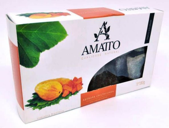 Abóbora Cristalizada Amatto 180g - UN