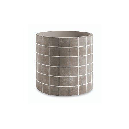 Vaso Cimento Grid Grande