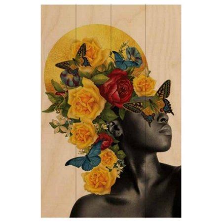 Quadro Mulher Flores