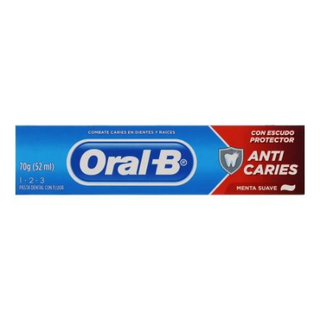 Creme Dental Oral B Menta 123 70gr