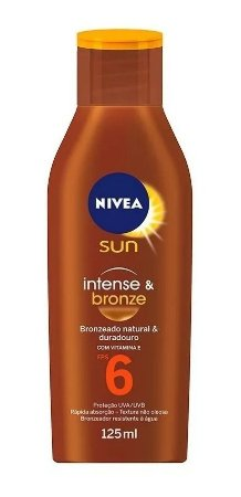 Bronzeador Nivea Sun Fps 6 125ml