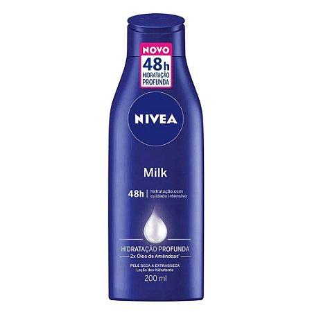 Loção Hidratante Nivea 200ml Milk Extra Seca
